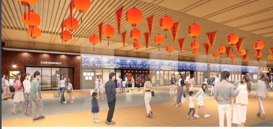 長崎駅改札口前(高架下)商業施設